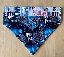 New listing Reversible Harry Potter Hogwarts/Death Eaters Collar Attach Dog Bandana