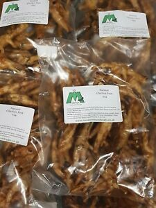 Natural Chicken Feet Dog Treats Bulk x24 Air Dried Rewards Chews snacks