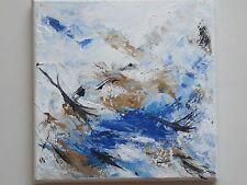 Peinture originale acrylique toile tableau Sables mouvants 3 abstrait signé