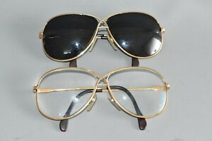 2 x Vintage Brille Cazal Sonnenbrille & normale Germany #AA5