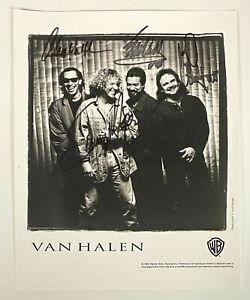 VAN HALEN Group Band 4x Signed 8x10 Photo Sammy Hagar Alex Van Halen + JSA LOA