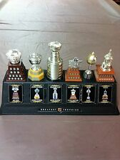 McDONALD'S NHL TROPHIES SET OF SIX WITH STAND & CARDS