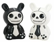 Furry Bones BUN BUN Skeleton in Bunny Costume Salt & Pepper Shaker Set