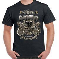 Mens Biker T-Shirt Big And Tall Motorcycle Motorbike USA Chopper Bobber Bike 206