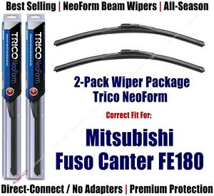 2-Pack NeoForm Wiper Blades fit 2012+ Mitsubishi Fuso Canter FE180 - 16200x2