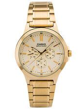 Casio Multi-Dial Stainless Steel Men's Watch MTP-V300G-9AV - Gold Tone