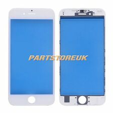 White Front Outer Screen Glass Lens +Middle Bezel Frame for iPhone 6S 4.7''