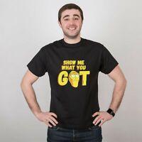Comics Cartoon T-Shirt Unisex Show Me What You Got Printed Men T Shirt Tee Shirt