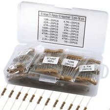 400x 16 Value ±5 Tolerance 1/2w Carbon Film Resistor Assortment Kit 10 1m Ohm