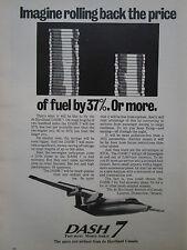 10/1974 PUB DE HAVILLAND AIRCRAFT OF CANADA AVION DASH 7 AIRLINER ORIGINAL AD