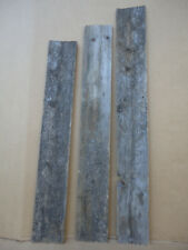 "RECLAIMED Weathered MAINE BARN BOARD Wood Siding 3pcs 4'x7"" Best Looking Ever L1"