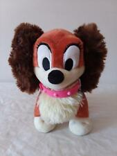 """Minnie Mouse's """"Fifi"""" plush dog toy; 6"""" with Pink collar and name tag"""