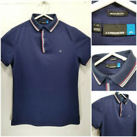 J LINDEBERG Regular Fit Mens Medium Golf Shirt Polo Blue
