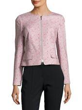 BASLER Front Zip Cropped Blazer Jacket, Women's Size 18 EU 48 MSRP $460