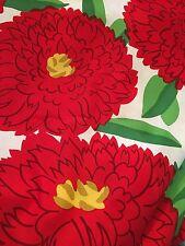 MARIMEKKO  Primavera Red  White Fabric by the Half Yard Up to 5 yds.