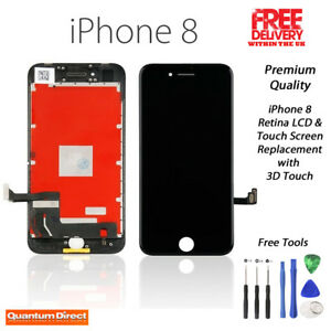 iPhone 8/SE 2020 Retina LCD Digitiser Touch Screen Replacement Grade AAA - BLACK