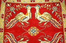 Ci 1930s ANTIQUE ANIMAL SUBJECTS PERSIAN SAROUK RUG 2.5x2.6 PHEONIX SUBJECTS