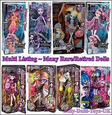 Monster High Dolls Multi Listing Over 25 Different Monsters Inc Rare Retired NEW