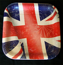 8 x Great Britain Plates Union Jack Large Paper Plates Royal Wedding Paper Plate
