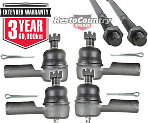Holden Tie Rods + Rod Ends Set x6 NEW HQ HJ HX HZ WB steering joint adjust