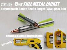 12er FULL METAL JACKET Pfeile Harpunen für GoGun Scuba Ringer/ AEA Spear Gun
