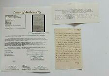 MARIE LOUISE WIFE OF NAPOLEON BONAPARTE HANDWRITTE SIGNED LETTER TO HER SON JSA