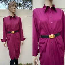 YVES SAINT LAURENT BUTTON FRONT SHIRT DRESS $1895 SZ 44