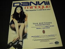 DANNII MINOGUE striking in black fishnets 1991 PROMO POSTER AD mint condition