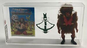 MOTU Vintage Loose Grizzlor with Comic Series 4 No COO Mattel 1985 AFA UKG 80%