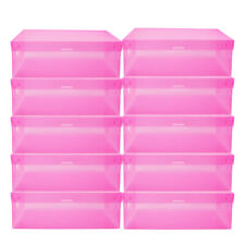 20/40 Shoe Box Tidy Plastic Clear Foldable Stackable Storage Case Home Organizer