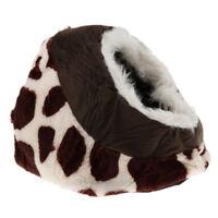Nid de lit pour chien, refuge d'habitat de chat, tapis de couchage en