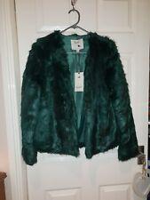 Yumi Faux Fur Green Jacket