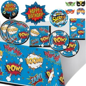 Superhero Cartoon Slogans Pow! Party Tableware, Decorations & Balloons