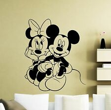Mickey Minnie Mouse Wall Decal Disney Cartoons Vinyl Sticker Decor Mural (396xx)