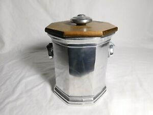 Wilton Armetale  Mulberry Hill Ice Bucket Cannister, Wood Lid, Columbia PA