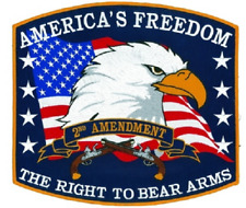 "PATCH ""America's Freedom-The Right to Bear Arms"" Large 12"""