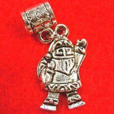 10Pcs. Tibetan Silver SANTA CLAUS w/ Bail Charms Pendants Earring Drops CH14