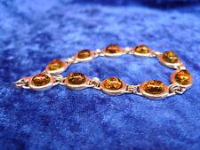 schönes ,altes Armband__mit gelblichem Bernstein___925 Silber______!