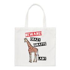 Méfiez-vous Crazy Girafe Femmes Petit Sac Fourre-tout Drôle Courses Épaule