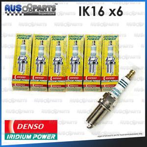 6x Denso IRIDIUM Spark Plugs IK16 for '06~'12 Alfa Romeo 159 3.2 V6 939AO