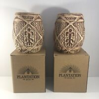 Plantation Rum Bai Tiki Barrel Mug Original Box Lot of 2