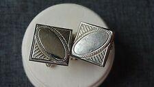 Shields Silver Tone Cufflinks