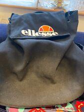Ellesse Bag Rucksack Black Orange Red Emblem Canvas School UK P/p Inc