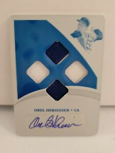 OREL HERSHISER 2021 Immaculate Quad Patch Auto Printing Plate Dodgers #1/1!