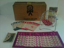 Vintage, Bingo Game, Pressman Toys #4465A Profe  ssional Type Toy Bingo Game