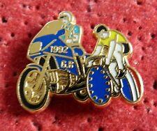 PIN'S GENDARMERIE MOTARD MOTO GR VELO TOUR DE FRANCE 1992 MAILLOT JAUNE ZAMAC