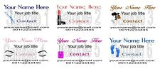 Business Cards 50 Personalised Hair MakeUp Spray Tan Lashes Nails Feet Mobile