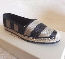 BURBERRY BRIT HODGSON ESPADRILLES 36.5 6.5 BLACK HONEY WOMAN SHOES SPRING SUMMER