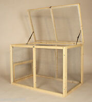 Large or Medium Rabbit Run Bunny Outdoor Cage Small Animal Wood Pet Pen Indoor