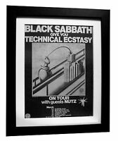 BLACK SABBATH+Technical Ecstacy+POSTER+AD+ORIGINAL 1977+FRAMED+FAST GLOBAL SHIP
